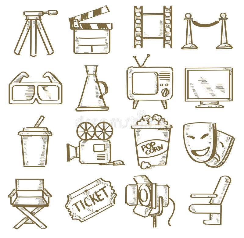 Download Hand drawn movie stock vector. Illustration of filmstrip - 31290260