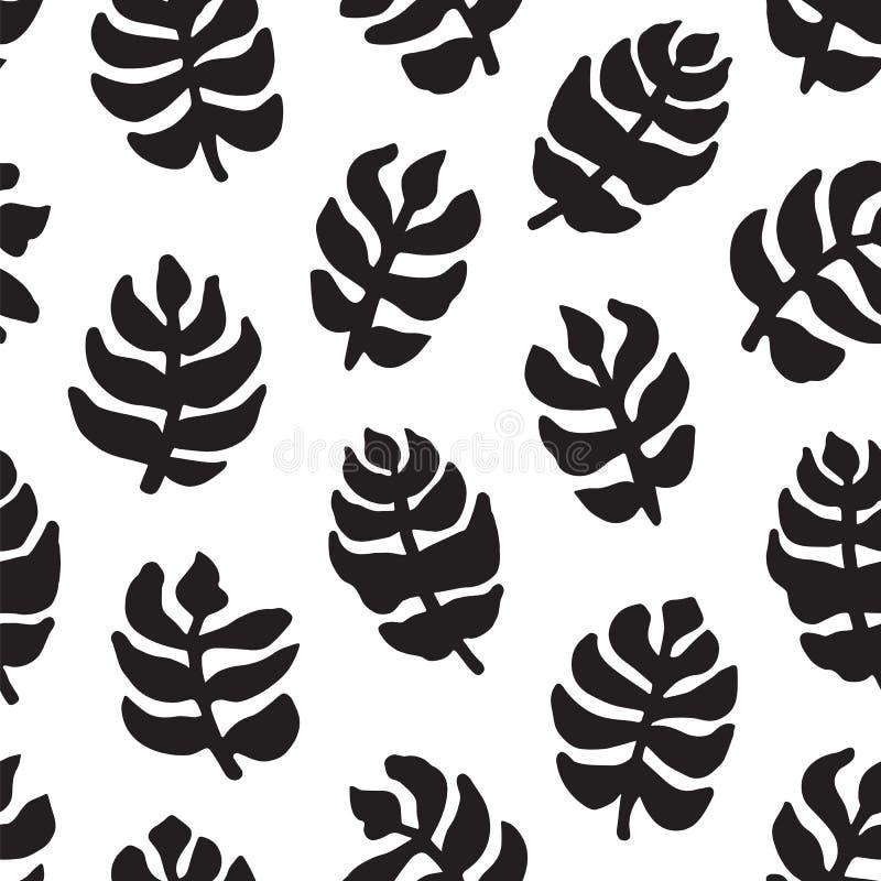 Hand-drawn naadloos patroon met bloemenontwerp vector illustratie