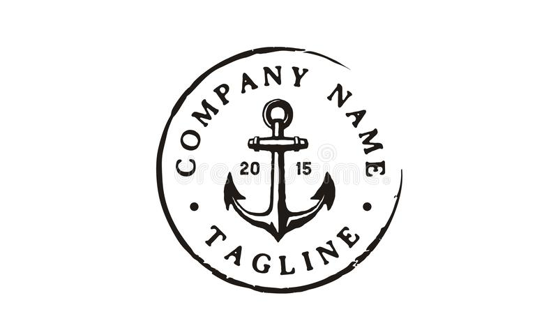 Rustic Hipster Simple Anchor Logo Design Inspiration Stock