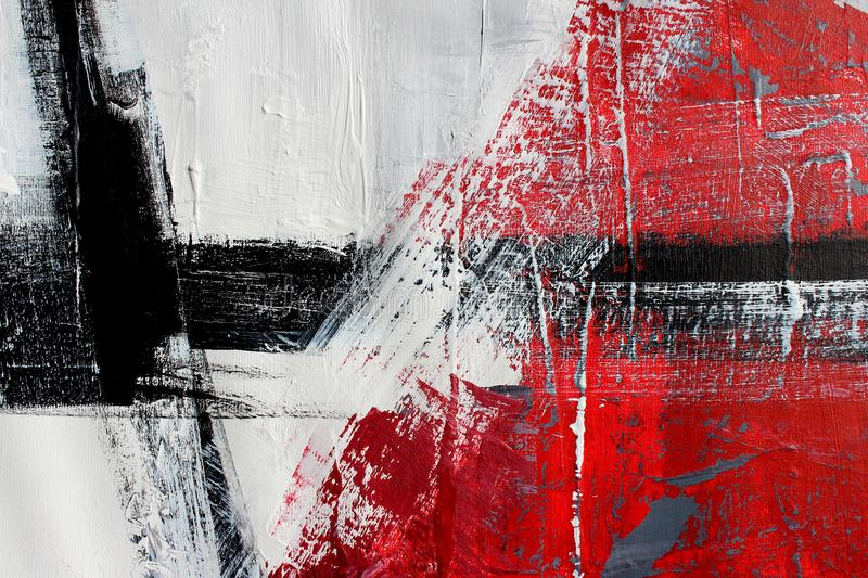 Red colors on canvas.Oil painting. Abstract art background. Oil painting on canvas. Color texture. Fragment of artwork. Hand drawn oil painting. Abstract art vector illustration