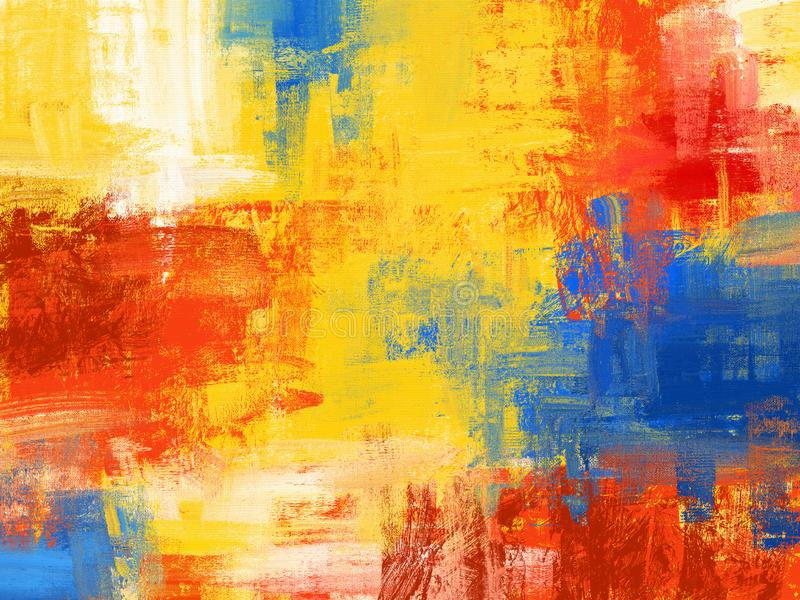 Hand drawn oil painting. Abstract art background Colorful  texture canvas royalty free illustration