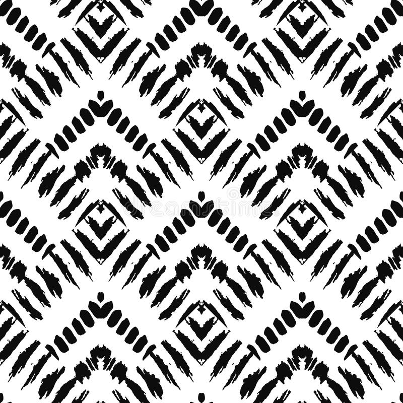 Hand drawn painted seamless pattern. illustration vector illustration