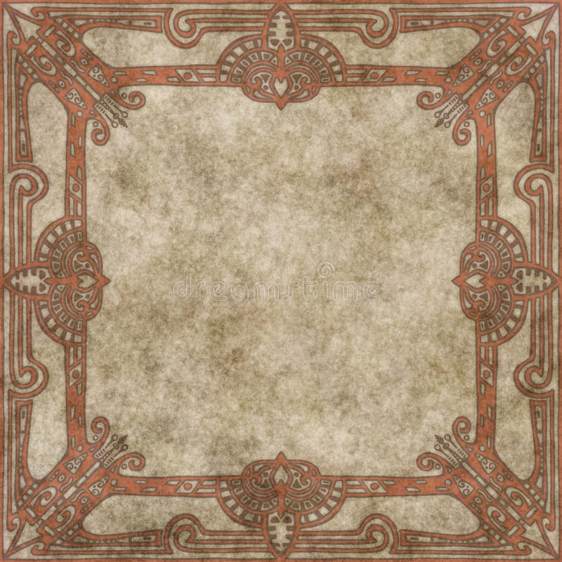 Download Hand Drawn Parchment With Decorative Border Royalty Free Stock Photography - Image: 10045187