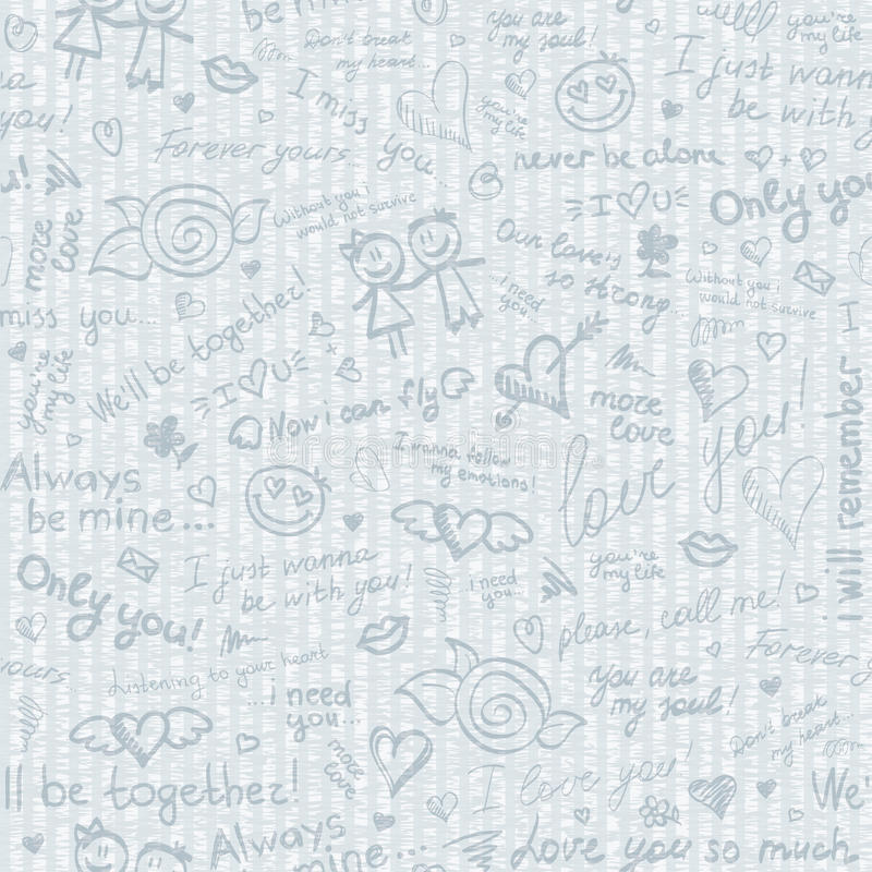 Hand drawn pattern royalty free illustration