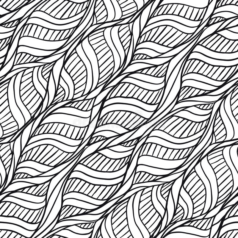 Hand drawn pattern stock illustration