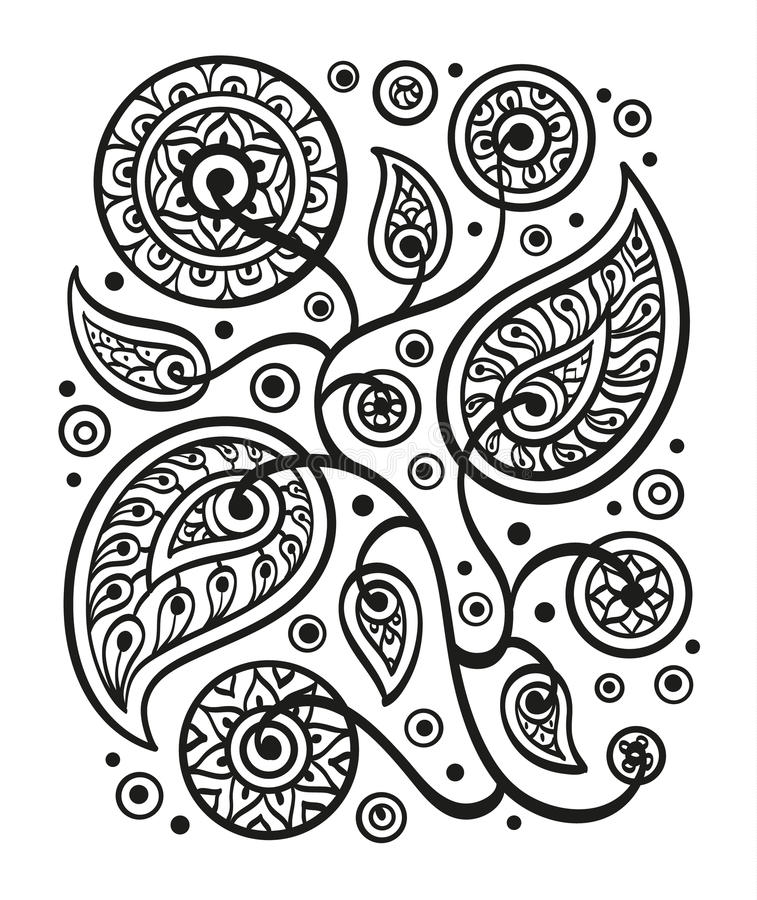 Hand drawn pattern stock illustration
