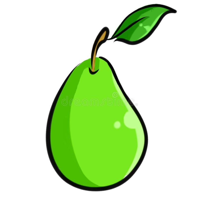 Hand-Drawn Pear Illustration Clipart royalty free stock images