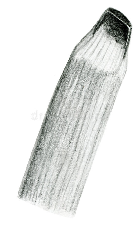 Hand drawn pencil tip illustration royalty free stock photos