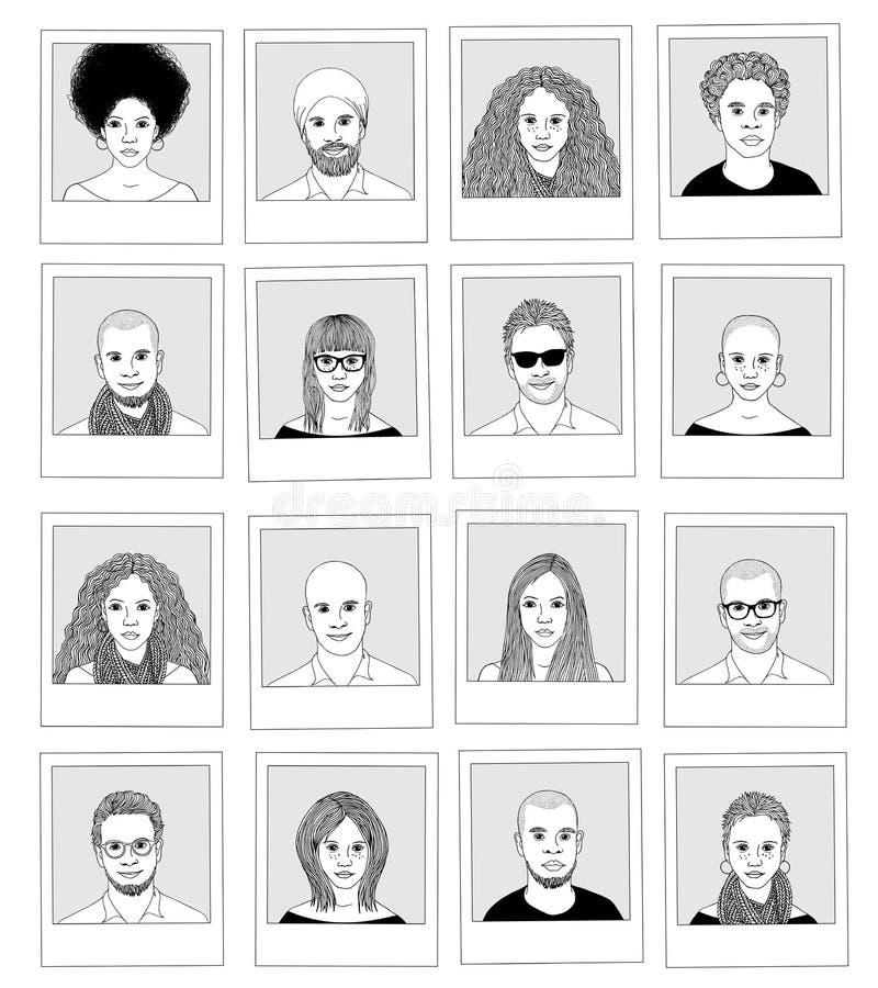 Hand drawn photographs vector illustration