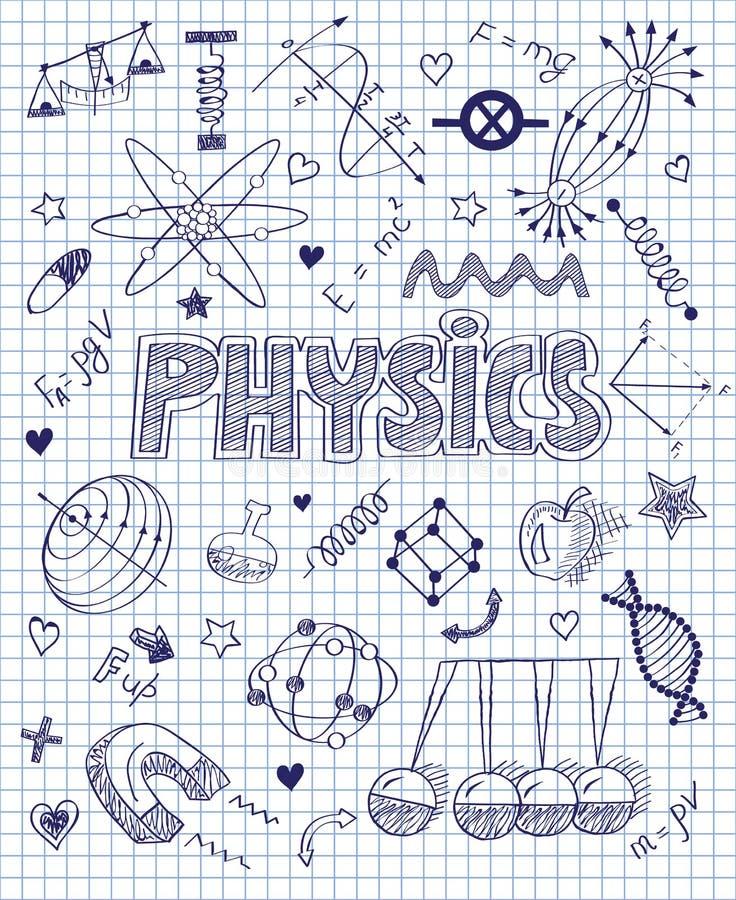 hand drawn physics set stock vector image 49318563. Black Bedroom Furniture Sets. Home Design Ideas