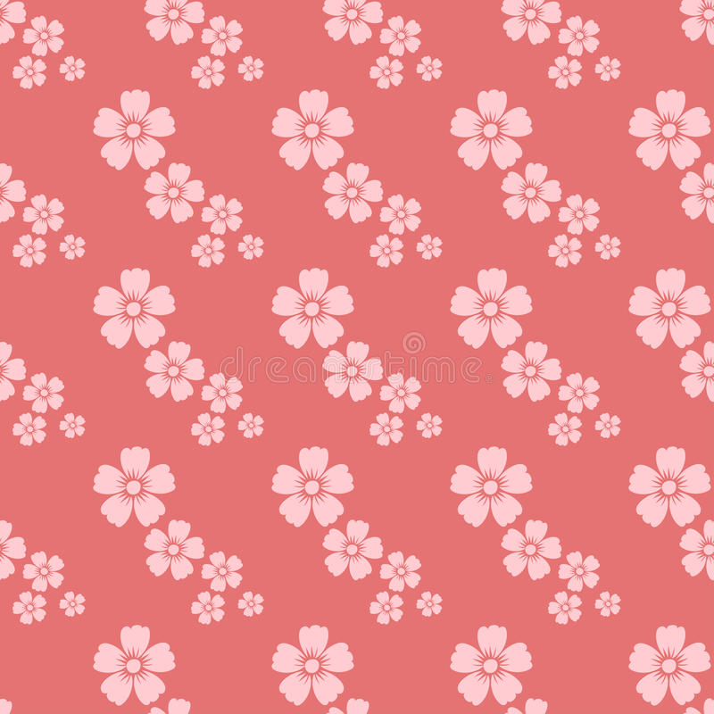Hand drawn pink flower seamless pattern sketch vintage wallpaper with print ornament decoration and floral graphic art. Nature drawing vector illustration vector illustration