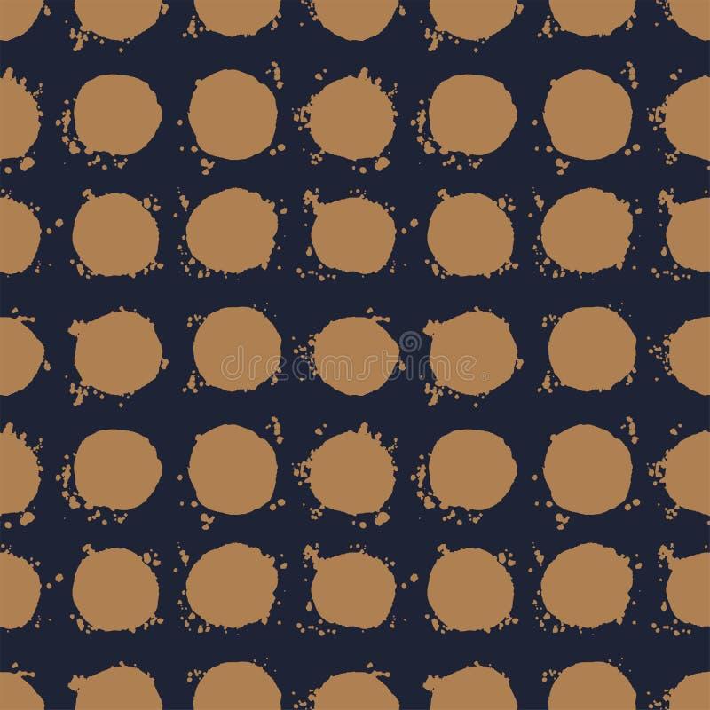 Hand drawn polka dot seamless pattern vector royalty free illustration