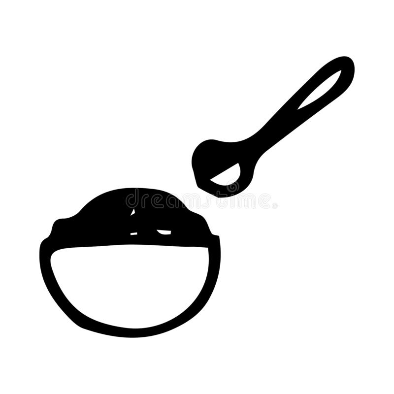 Hand Drawn porridge doodle. Sketch style icon. Decoration element. Isolated on white background. Flat design. Vector illustration. Abstract, baby, banner vector illustration
