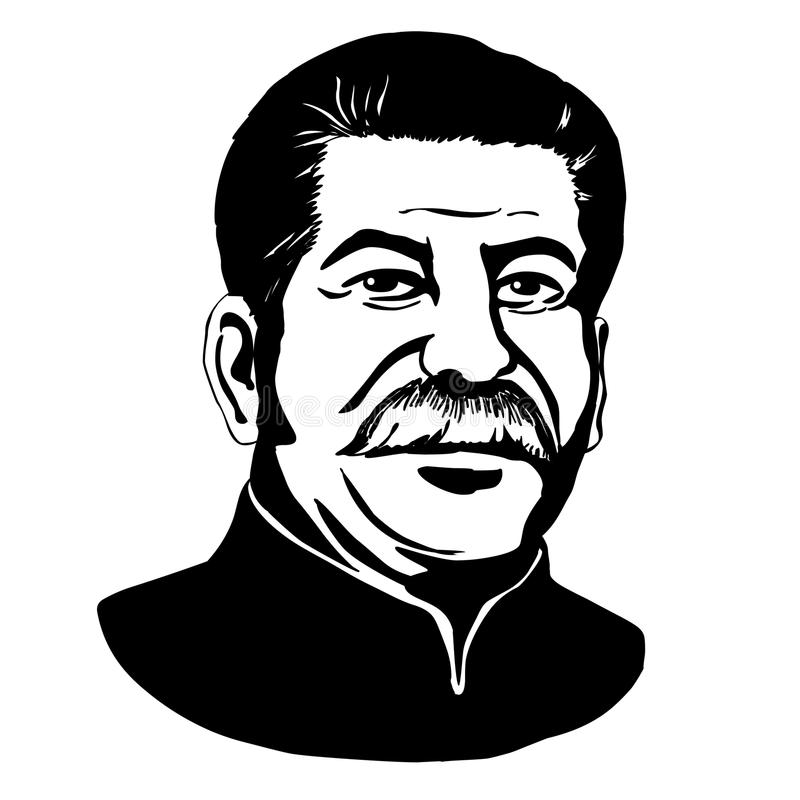 Joseph Stalin.Vector portrait of Mark Twain stock illustration