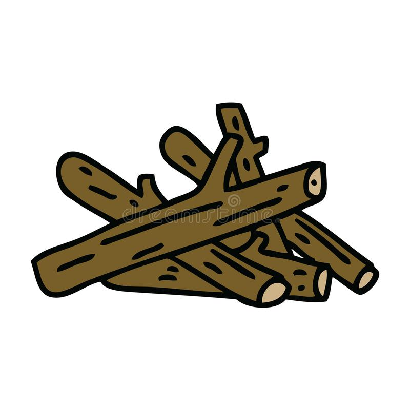 Hand drawn quirky cartoon logs. Illustrated hand drawn quirky cartoon logs stock illustration