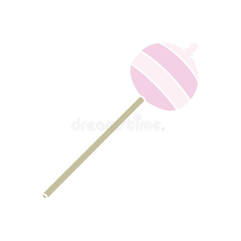 hand drawn quirky cartoon lolipop stock illustration