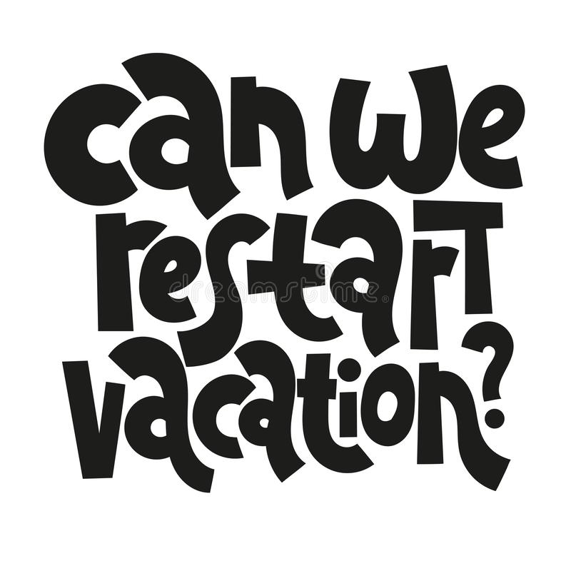 Hand Drawn Quotes About Vacation Stock Vector - Illustration