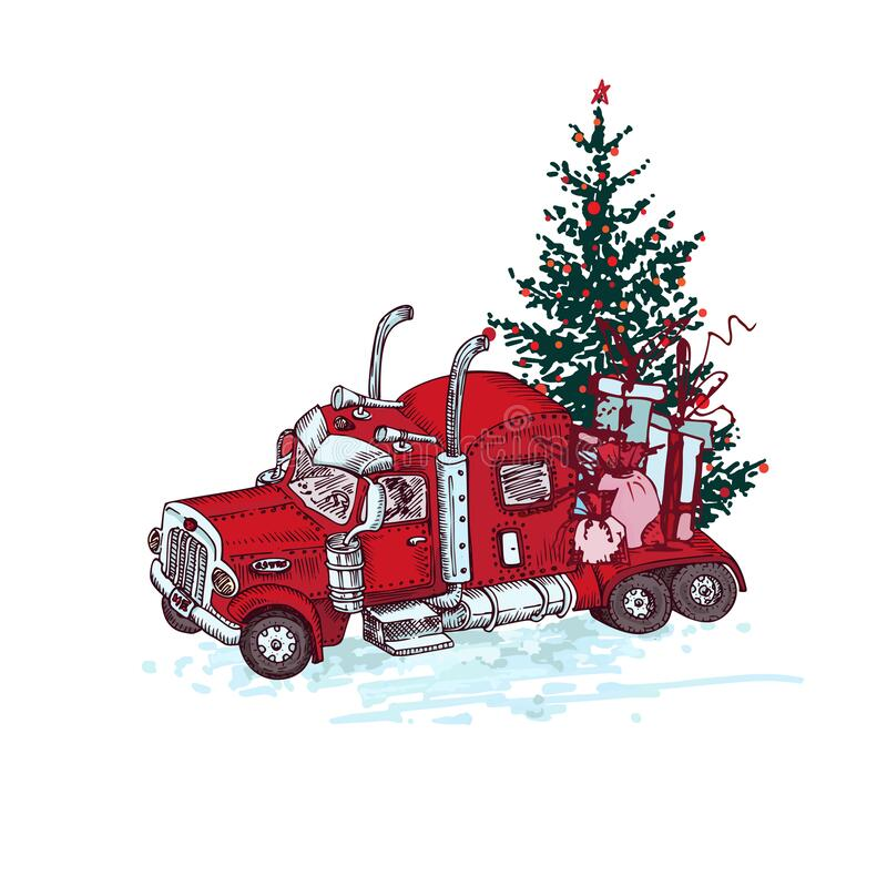 Red Truck Christmas Tree Stock Illustrations 741 Red Truck Christmas Tree Stock Illustrations Vectors Clipart Dreamstime