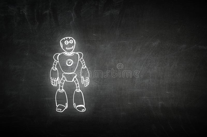 Hand drawn robot stock images