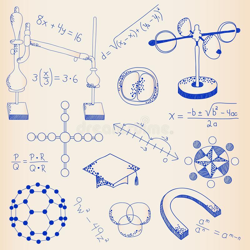 Hand Drawn Science Icon Set vector illustration
