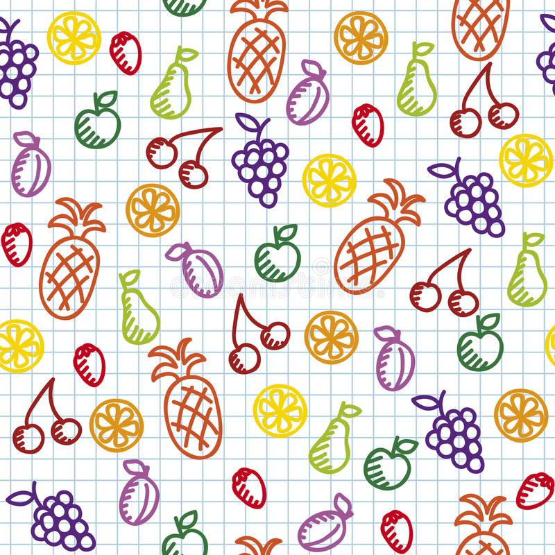 Free Hand Drawn Seamless Pattern Stock Image - 25157711