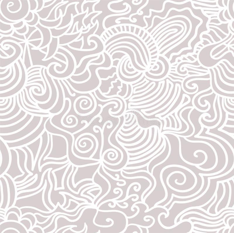 Hand drawn seamless pattern royalty free illustration