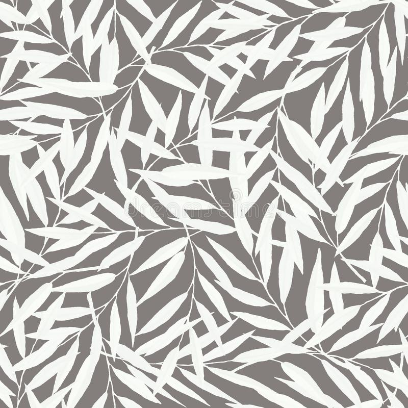 Hand drawn seamless pattern with branches vector illustration