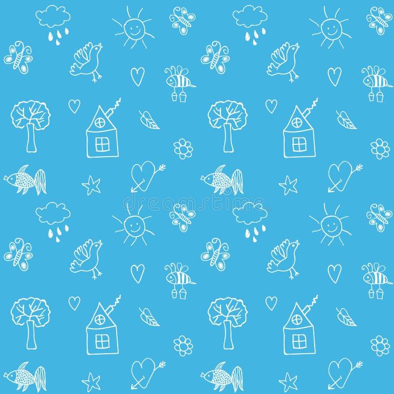 Hand drawn seamless pattern. Summer background. Vector illustration. vector illustration