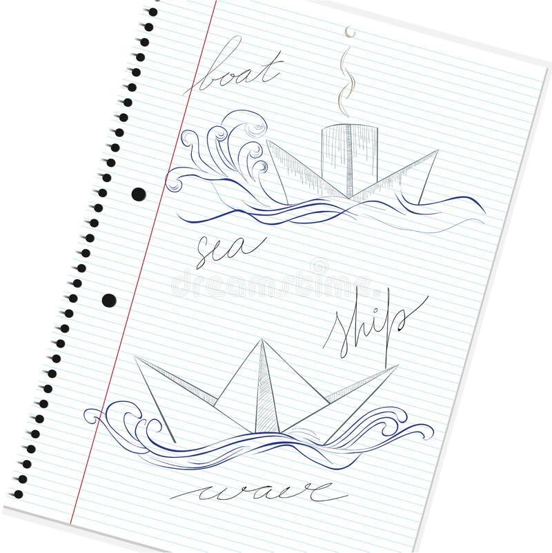 Download Hand drawn ship stock vector. Illustration of circle - 22781147