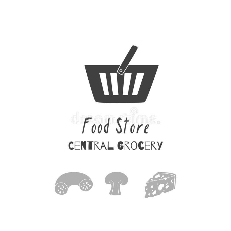 Download Hand Drawn Silhouettes Food Store Logo Templates For Craft Packaging Or Brand Identity Stock