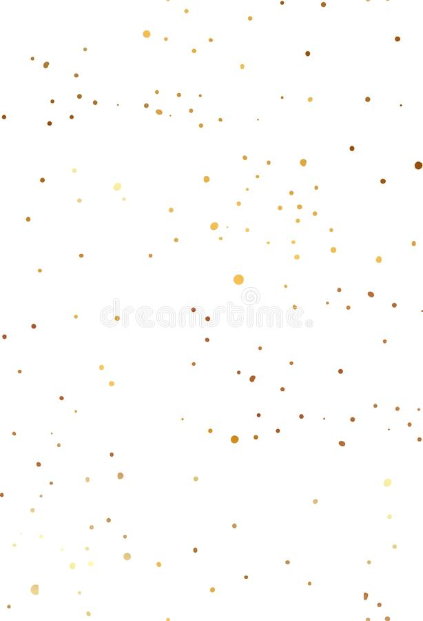 Hand drawn simple scandinavian Gold glitter texture decoration, festive Christmas and New year seamless pattern isolated stock illustration