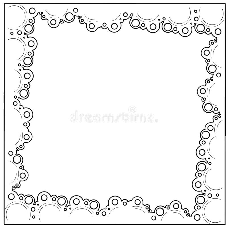 Hand drawn sketch circle border frame stock illustration