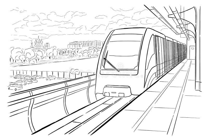 Art Drawing Railway Sketch Wagon Stock Illustrations – 67