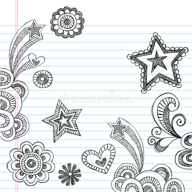 Download Hand-Drawn Sketchy Back To School Doodles Royalty Free Stock Images - Image: 19249839