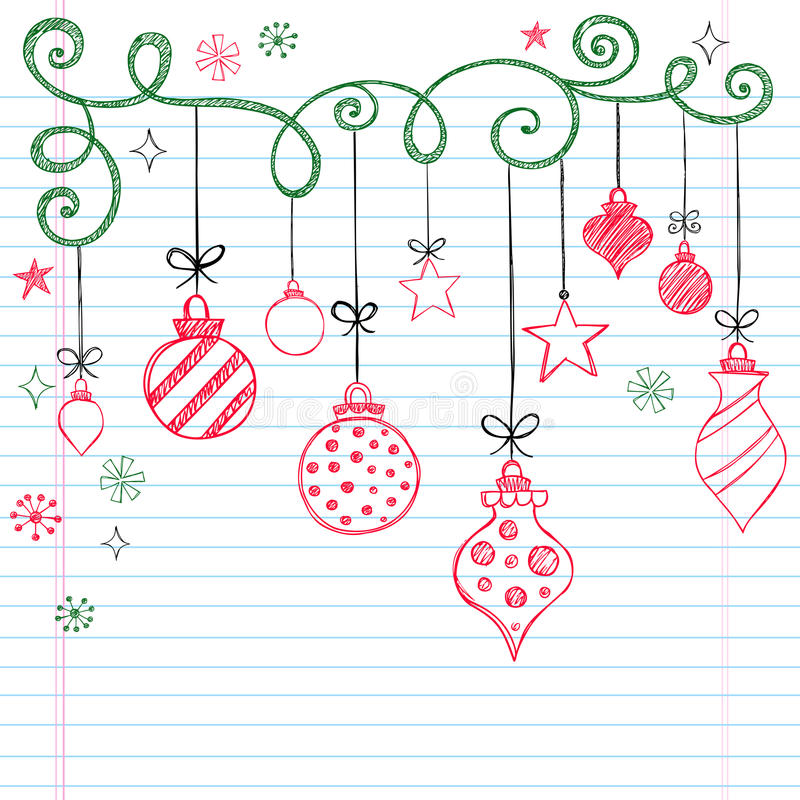 Free Hand-Drawn Sketchy Doodle Christmas Ornament Stock Photography - 17267552
