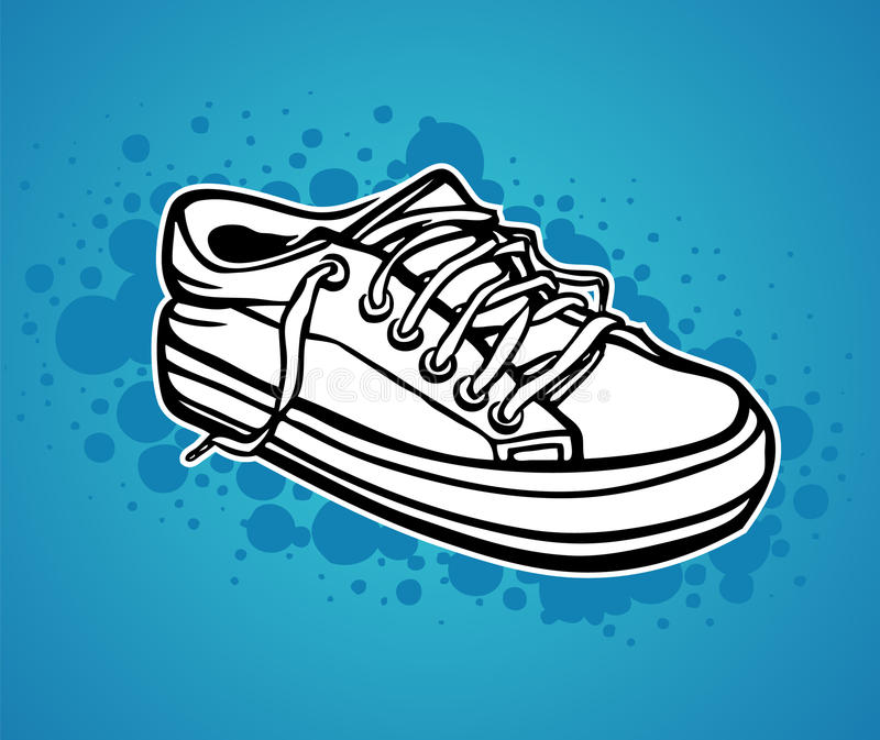 Download A hand drawn sneaker stock vector. Illustration of drawn - 12203677