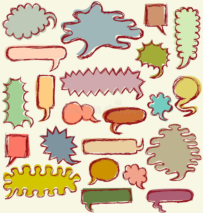 Download Hand Drawn Speech Bubbles stock vector. Illustration of grunge - 10159245