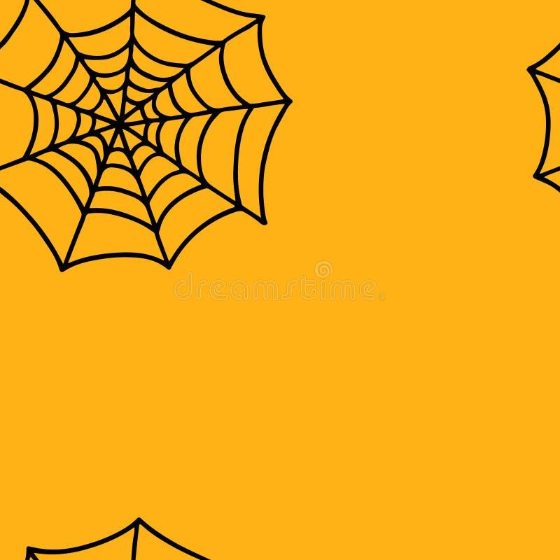 Hand drawn spider web vector eps seamless pattern vector illustration