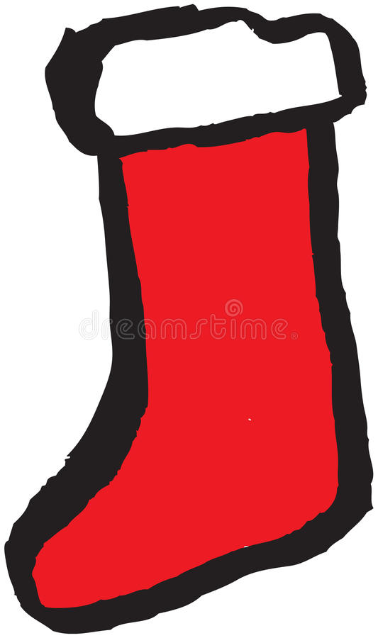 Hand Drawn Stocking Royalty Free Stock Photo
