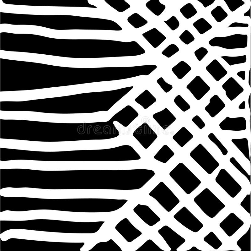Hand drawn striped pattern. Black and white. Design elements drawn strokes. The effect of gel pens vector illustration