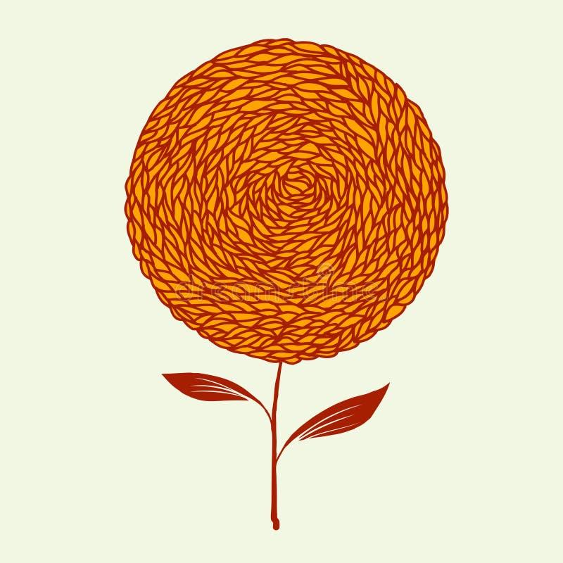 Hand Drawn Sunflower Stock Image