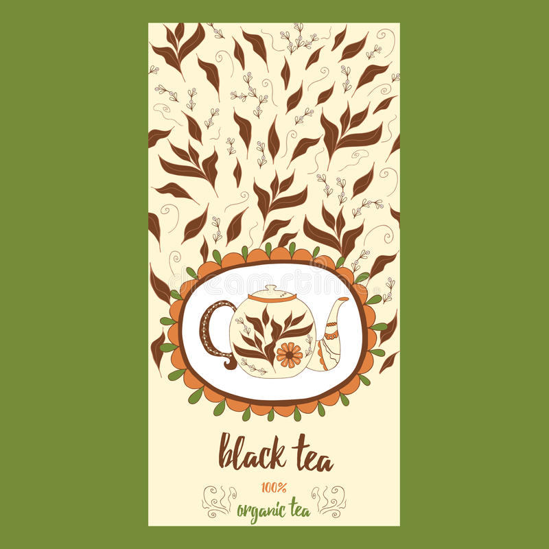 Download Hand Drawn Template Packaging Tea Label Banner Poster Identity Branding