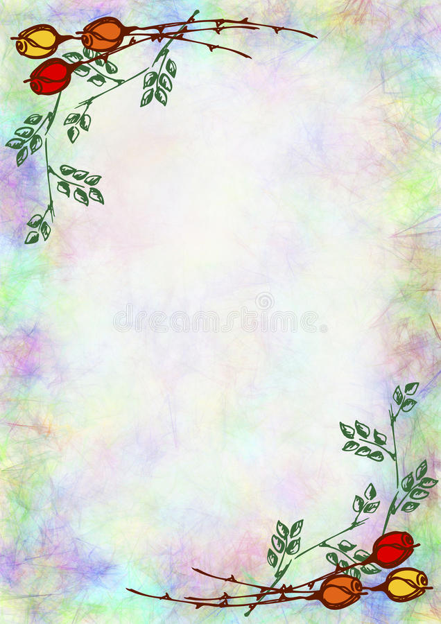 Hand drawn textured floral backgroundumpled paper with rose and letter or greeting card royalty free illustration download hand drawn textured floral backgroundumpled paper with rose and leavestemplate for spiritdancerdesigns Images