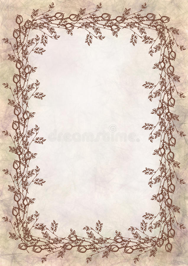 Hand drawn textured floral backgroundumpled paper with rose and download hand drawn textured floral backgroundumpled paper with rose and leavestemplate for spiritdancerdesigns