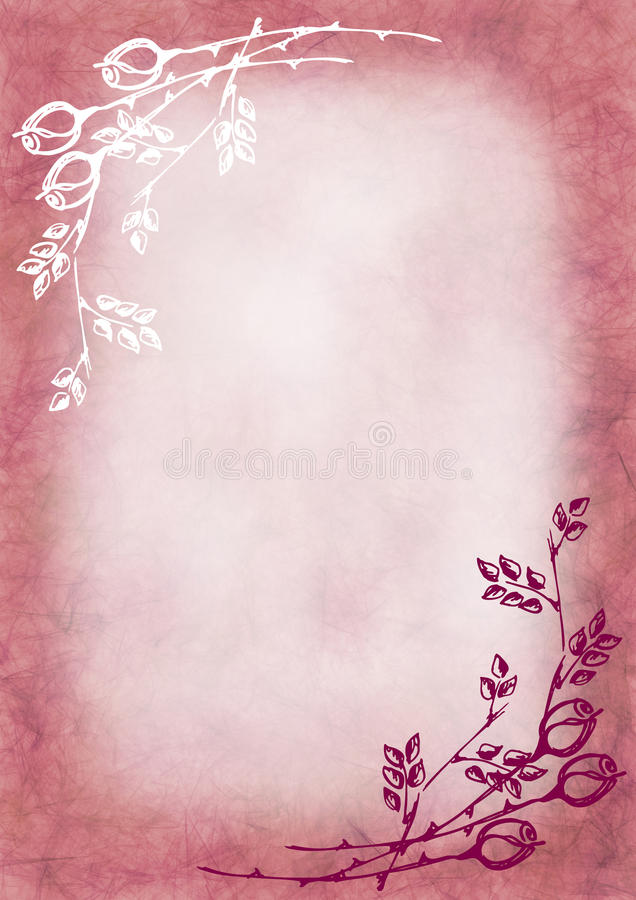 Hand drawn textured floral background in pink colors with rose and download hand drawn textured floral background in pink colors with rose and leavestemplate for spiritdancerdesigns Images