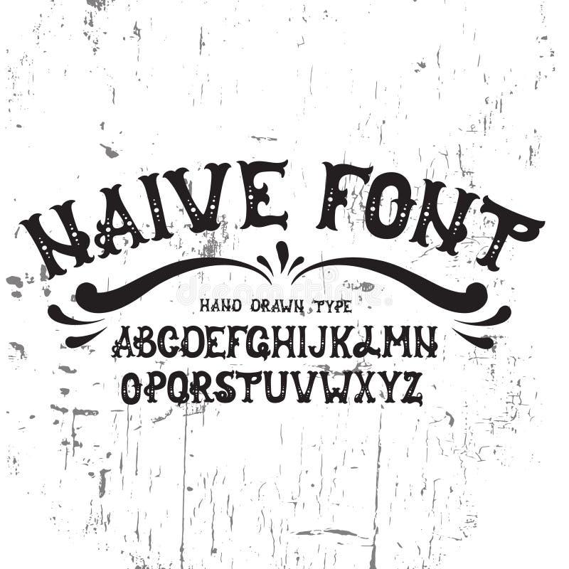 Hand drawn trendy font. vector illustration