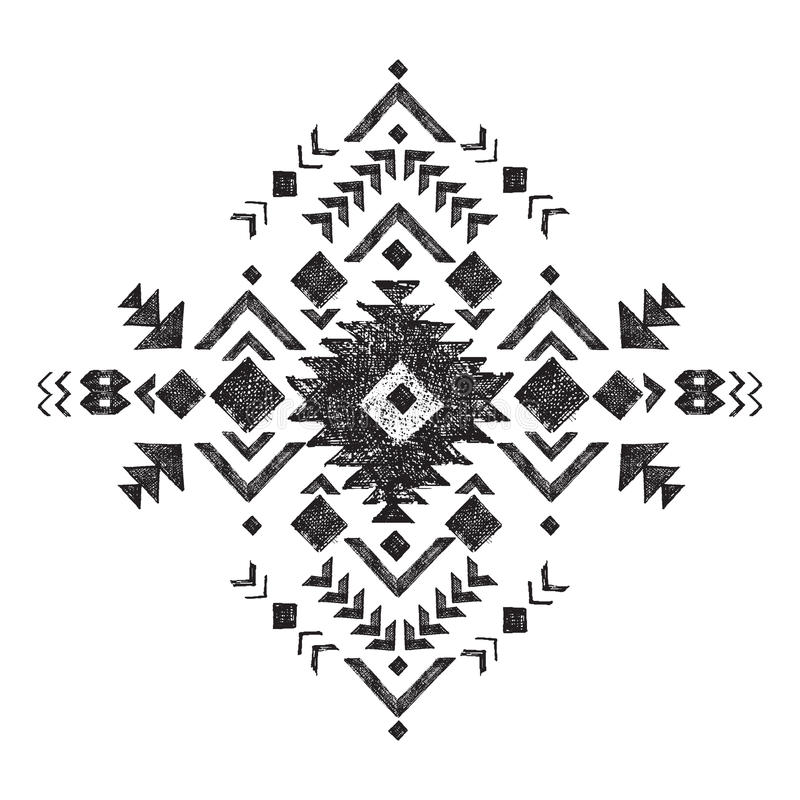Hand drawn tribal design element royalty free illustration