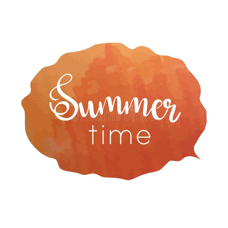 Hand drawn typography lettering phrase Summer time. vector illustration