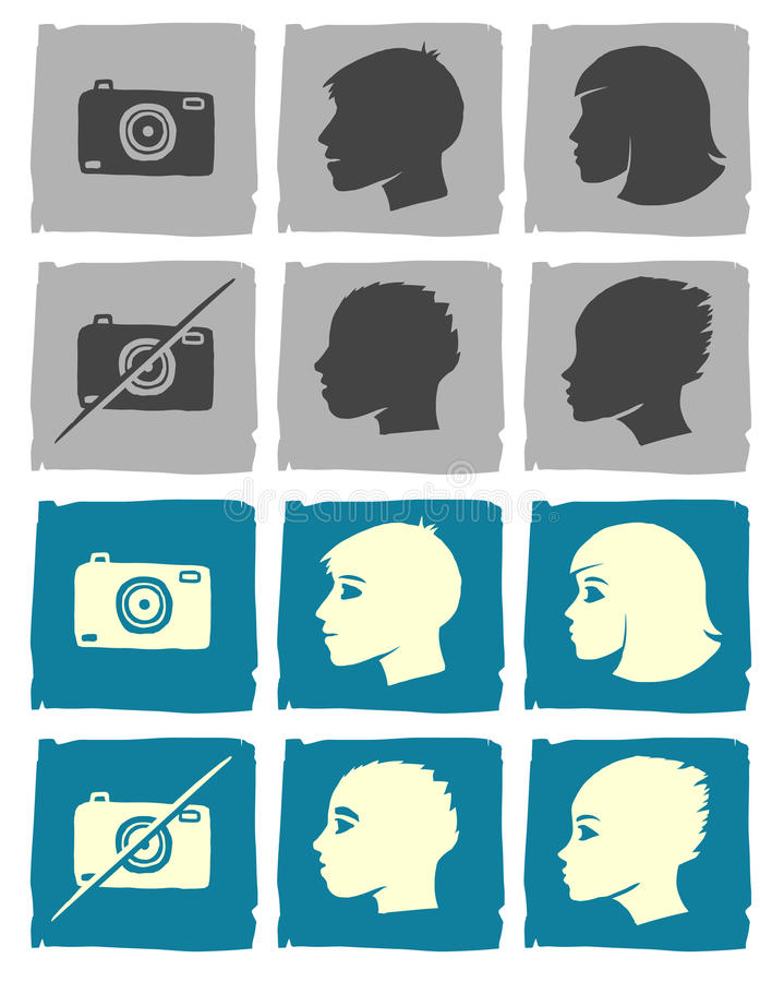 Hand Drawn Userpics Royalty Free Stock Image