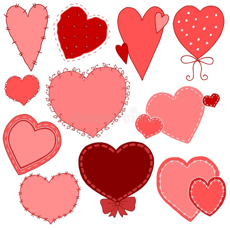 Download Hand Drawn Valentine's Day Heart Vectors Stock Vector - Image: 3996936